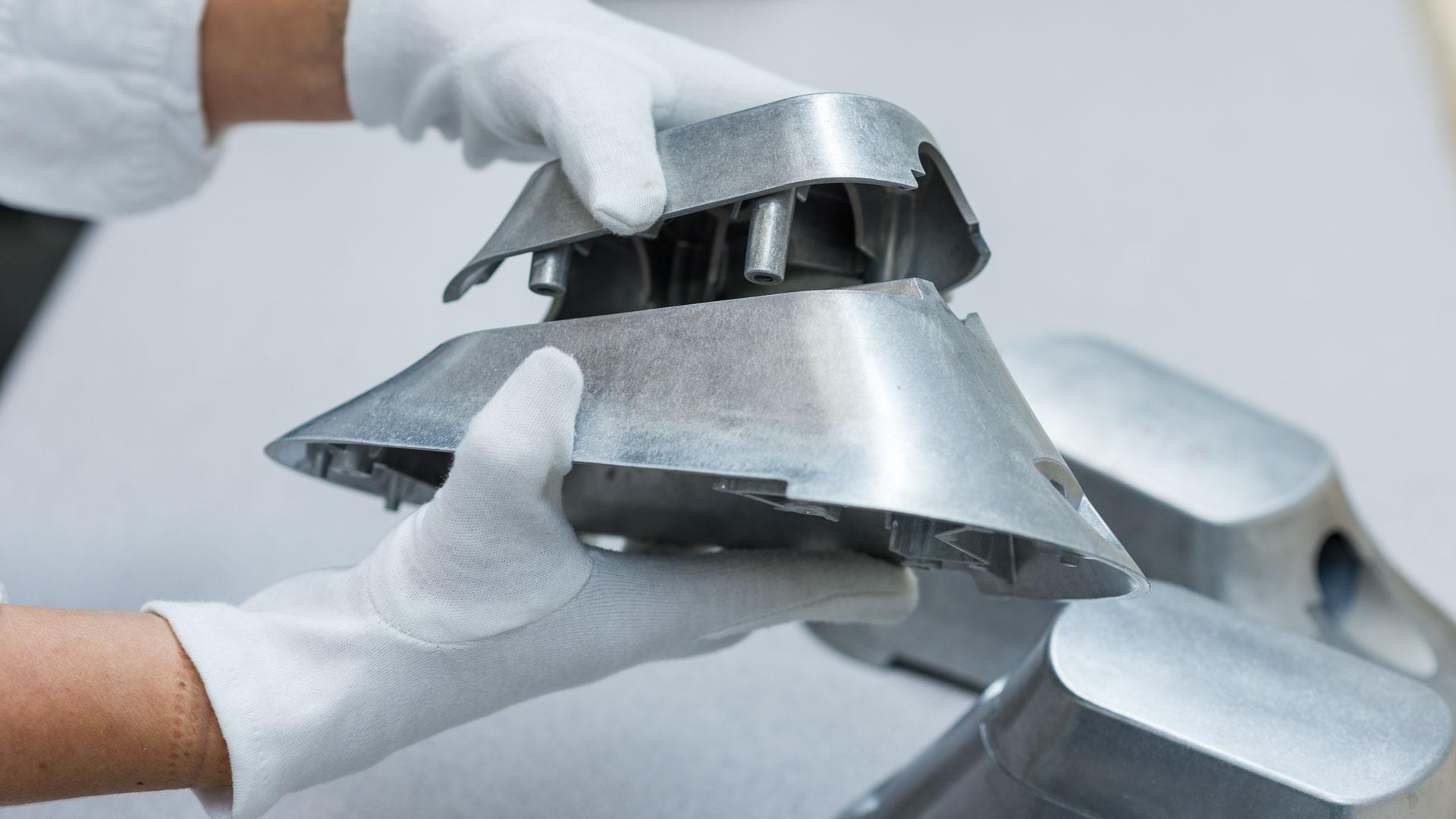 Installation of cast parts